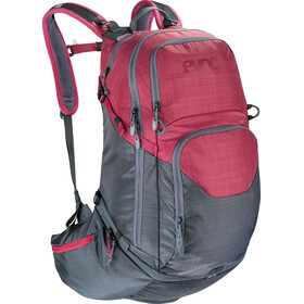 EVOC Explorer Pro fietsrugzak 30l, heather carbon grey/heather ruby
